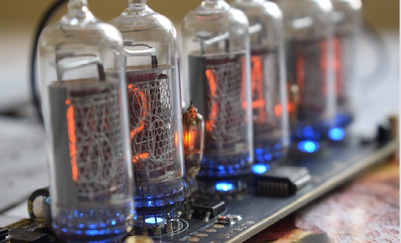nixie-clock-side